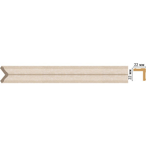 Угол Decomaster Ионика цвет 18D 22х22х2400 мм (116M-18D)
