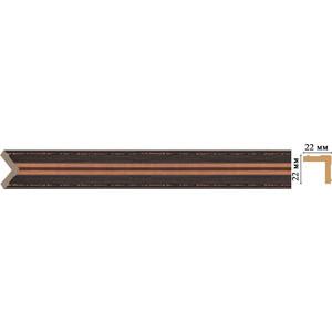 Угол Decomaster Эрмитаж цвет 966 22х22х2400 мм (116M-966)