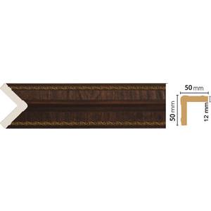 Угол Decomaster Темный шоколад цвет 1 51х51х2400 мм (142-1)