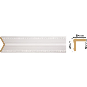 Угол Decomaster Белый цвет 115 51х51х2400 мм (142-115)