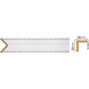 Угол Decomaster Дуб белый с золотом цвет 118 51х51х2400 мм (142-118)