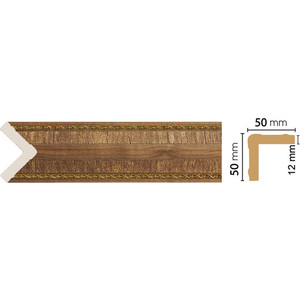 Угол Decomaster Орех цвет 3 51х51х2400 мм (142-3) угол decomaster античное золото цвет 552 51х51х2400 мм 142 552
