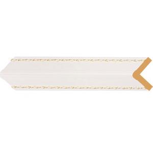 Угол Decomaster Белый с золотом цвет 54 51х51х2400 мм (142-54)