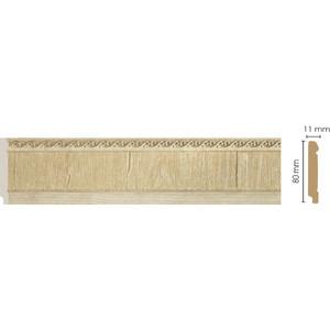 Плинтус напольный Decomaster Натуральный бежевый цвет 5 80х11х2400 мм (144-5)