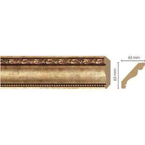 Плинтус Decomaster Античное золото цвет 552 63х63х2400 мм (146-552) decomaster багет decomaster 808 552 размер 61х26х2900мм