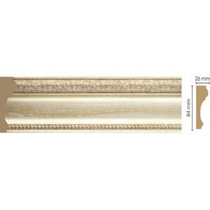 Молдинг Decomaster Светлое золото цвет 281 84х26х2400 мм (147-281) молдинг decomaster античное золото цвет 552 40х20х2900 мм 807 552