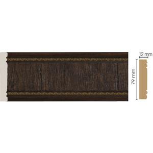 Молдинг Decomaster Темный шоколад цвет 1 80х12х2400 мм (150-1)