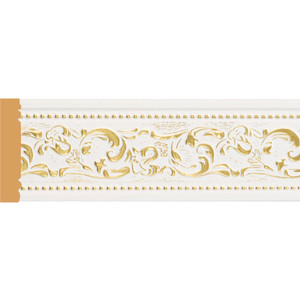 Молдинг Decomaster Белый с золотом цвет 54 80х12х2400 мм (150-54) душевой трап pestan square 3 150 мм 13000007