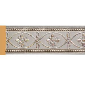 Молдинг Decomaster Серебристый металлик цвет 55 80х12х2400 мм (150-55)