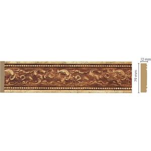 Молдинг Decomaster Античное золото цвет 552 80х12х2400 мм (150-552) молдинг decomaster античное золото цвет 552 60х22х2400 мм 161 552
