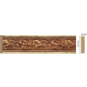 Молдинг Decomaster Античное золото цвет 552 80х12х2400 мм (150-552) decomaster багет decomaster 808 552 размер 61х26х2900мм