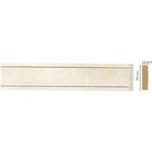 Молдинг Decomaster Прованс цвет 6 80х12х2400 мм (150-6)