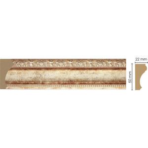 Молдинг Decomaster Венецианская бронза цвет 127 50х22х2400 мм (151-127)