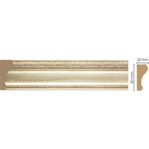 Молдинг Decomaster Светлое золото цвет 281 50х22х2400 мм (151-281)