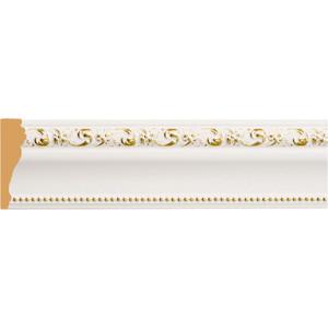 цена на Молдинг Decomaster Белый с золотом цвет 54 85х25х2400 мм (152-54)