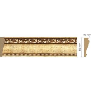 Молдинг Decomaster Античное золото цвет 552 85х25х2400 мм (152-552) decomaster багет decomaster 808 552 размер 61х26х2900мм