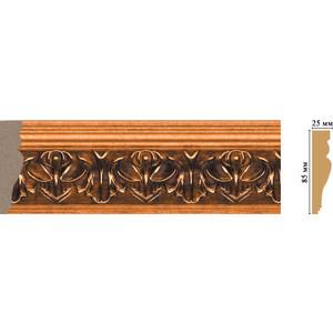 Молдинг Decomaster Эрмитаж цвет 1223 85х20х2400 мм (152B-1223) decomaster цветной молдинг decomaster 152 5 размер 85х25х2400