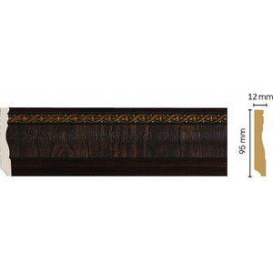 Плинтус напольный Decomaster Темный шоколад цвет 1 95х12х2400 мм (153-1)