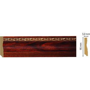 Плинтус напольный Decomaster Красное дерево цвет 1084 95х12х2400 мм (153-1084) az1084d adj 1084 adj ad1084 adj to 252