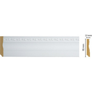 Плинтус напольный Decomaster Белый цвет 115 95х12х2400 мм (153-115)