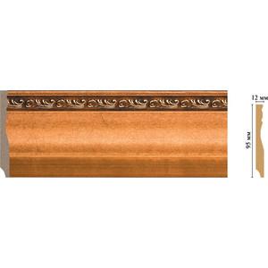 Плинтус напольный Decomaster Эрмитаж цвет 1223 95х12х2400 мм (153-1223) decomaster багет decomaster 808 552 размер 61х26х2900мм