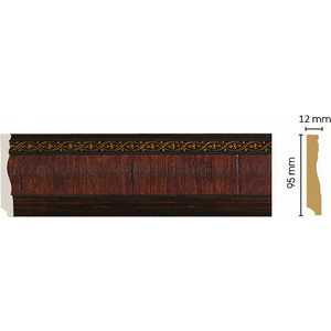 Плинтус напольный Decomaster Престиж цвет 2 95х12х2400 мм (153-2)