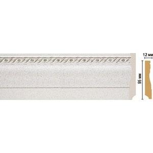 Плинтус напольный Decomaster STONE LINE цвет 42 95х12х2400 мм (153-42)