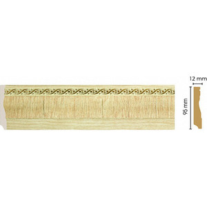 Плинтус напольный Decomaster Натуральный бежевый цвет 5 95х12х2400 мм (153-5)