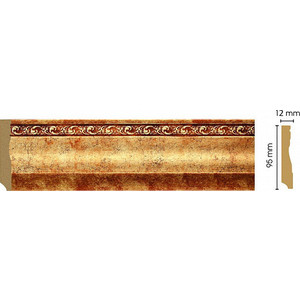 Плинтус напольный Decomaster Античное золото цвет 552 95х12х2400 мм (153-552) молдинг decomaster античное золото цвет 552 60х22х2400 мм 161 552
