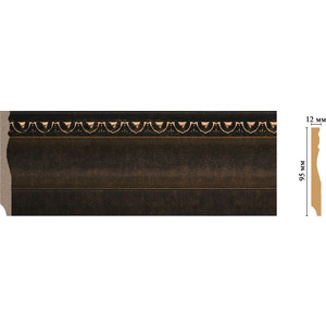 цены Плинтус напольный Decomaster Ионика цвет 56 95х12х2400 мм (153-56)