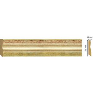 Плинтус напольный Decomaster Матовое золото цвет 933 95х15х2400 мм (153-933)