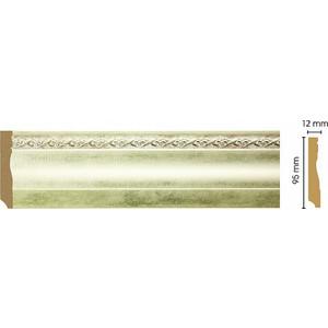 Плинтус напольный Decomaster Матовое серебро цвет 937 95х15х2400 мм (153-937)