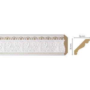 Плинтус Decomaster Белый цвет 115 76х76х2400 мм (154-115)  плинтус молдинг из полиуретана 16х40х2400 мм decomaster