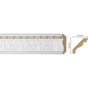 Плинтус Decomaster Белый цвет 115 76х76х2400 мм (154-115) основание decomaster цвет белый 220х220х130 мм 90135 4