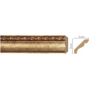 Плинтус Decomaster Античное золото цвет 552 76х76х2400 мм (154-552) decomaster потолочный плинтус карниз decomaster 154 937 размер 76х76х2400