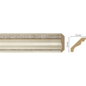 Плинтус Decomaster Матовое серебро цвет 937 76х76х2400 мм (154-937) плинтус decomaster античное золото цвет 552 76х76х2400 мм 154 552