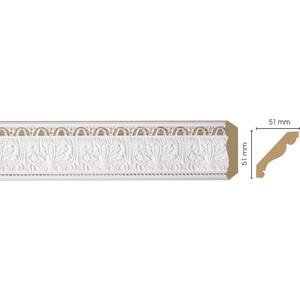 Плинтус Decomaster Белый цвет 115 51х51х2400 мм (155-115)  плинтус молдинг из полиуретана 16х40х2400 мм decomaster