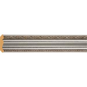 Плинтус Decomaster Серебристый металлик цвет 55 51х51х2400 мм (155-55)