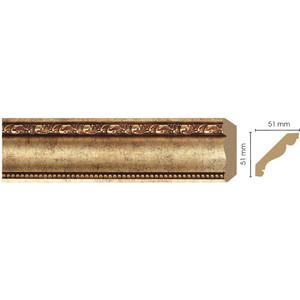 Плинтус Decomaster Античное золото цвет 552 51х51х2400 мм (155-552) decomaster багет decomaster 808 552 размер 61х26х2900мм