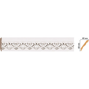 Плинтус Decomaster Эрмитаж цвет 60 60х40х2400 мм (155B-60) decomaster багет decomaster 808 552 размер 61х26х2900мм