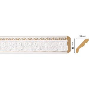 Плинтус Decomaster Белый цвет 115 35х35х2400 мм (155S-115)