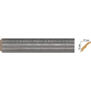 Плинтус Decomaster Серебристый металлик цвет 55 35х35х2400 мм (155S-55)