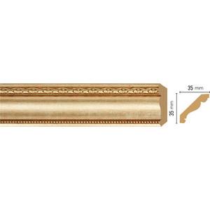 Плинтус Decomaster Матовое золото цвет 933 35х35х2400 мм (155S-933)