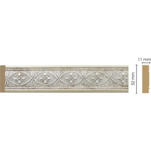 Молдинг Decomaster Матовое серебро цвет 937 50х11х2400 мм (156-937)