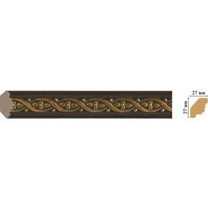 Угол внутренний Decomaster Темный шоколад цвет 1 27х27х2400 мм (157M-1)