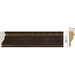 Молдинг Decomaster Темный шоколад цвет 1 60х22х2400 мм (161-1)