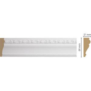 Молдинг Decomaster Белый цвет 115 60х22х2400 мм (161-115) decomaster багет decomaster 808 552 размер 61х26х2900мм