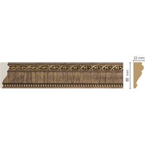 Молдинг Decomaster Орех цвет 3 60х22х2400 мм (161-3) decomaster декоративная панель decomaster b20 1084 200х9х2400мм