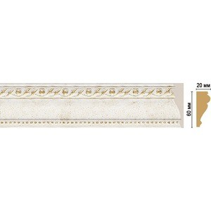 Молдинг Decomaster STONE LINE цвет 40 60х22х2400 мм (161-40)