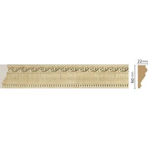 Молдинг Decomaster Натуральный бежевый цвет 5 60х22х2400 мм (161-5) decomaster багет decomaster 808 552 размер 61х26х2900мм